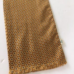 Accessories - Vintage Sally Gee Silk Scarf Yellow & Gray
